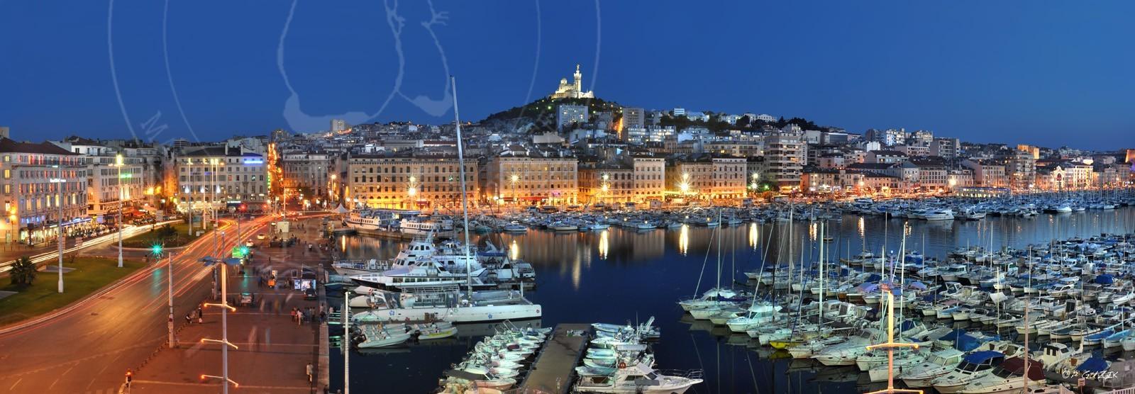 Ref 150 88 vieux port marseille de mimi 150x52 nuit - Taxi from marseille airport to vieux port ...